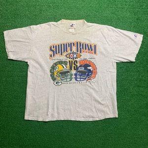 Vintage 98 Broncos Vs Packers NFL Super Bowl Shirt
